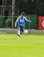 SAO PAULO, SP, 06 FEVEREIRO 2013 - TREINO S.E. PALMEIRAS - Ayrton jogador do Palmeiras durante sessao de treinamento na Academia de Futebol nesta quarta-feira, 06. (FOTO: WILLIAM VOLCOV / BRAZIL PHOTO PRESS).