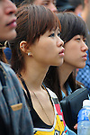 Kaohsiung, MegaPort Music Festival -- A fans watching the performnace of SUGAR PLUM FERRY.