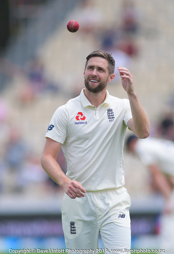 England's Chris Woake prepares to bowl during day five of the international cricket 2nd test match between NZ Black Caps and England at Seddon Park in Hamilton, New Zealand on Tuesday, 3 December 2019. Photo: Dave Lintott / lintottphoto.co.nz