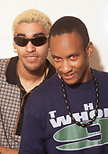 THE PRODIGY - Leeroy Thornhill (L) and Maxim Reality (R) - photosession in London UK - 1996.  Photo credit: Ray Palmer Archive/IconicPix