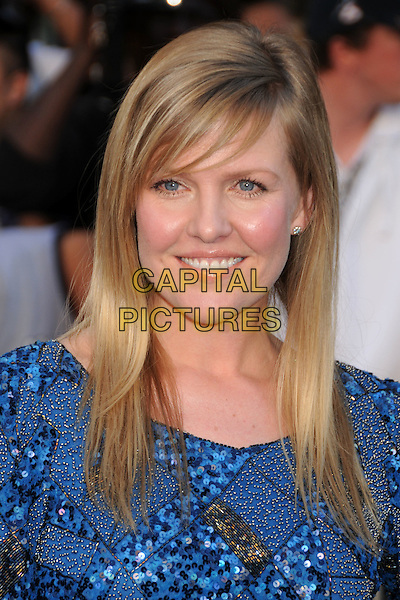 "ASHLEY JENSEN .Attending the ""Gnomeo and Juliet"" World Premiere held at the El Capitan Theatre, Hollywood, California, USA, .23rd January 2011..& arrivals portrait headshot fringe beauty  blue beaded sequined sequin smiling .CAP/ADM/BP.©Byron Purvis/AdMedia/Capital Pictures."
