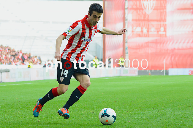 Football macht during La Liga BBVA.<br /> Athletic Club - Real Sociedad<br /> markel susaeta