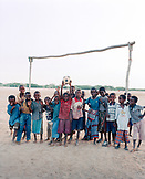 ERITREA, Tio, portrait of kids on a soccer field in the town of Tio