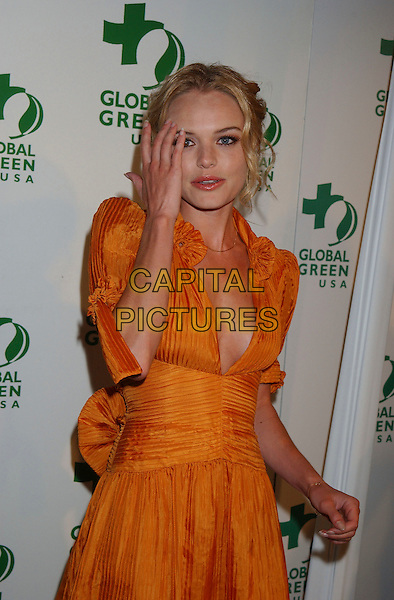 KATE BOSWORTH.Global Green USA's Annual Oscar Party,.Los Angeles, California, USA, 3 March 2006..half length orange silk dress hand.Ref: ADM/GB.www.capitalpictures.com.sales@capitalpictures.com.©Gary Boas/AdMedia/Capital Pictures.