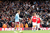 Aston Villa fans in full voice during the Premier League match between Arsenal and Aston Villa at the Emirates Stadium, London, England on 22 September 2019. Photo by Carlton Myrie / PRiME Media Images.