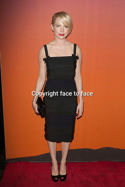 NEW YORK, NY - OCTOBER 23, 2013: Michelle Williams attends the 2013 Whitney Gala at Skylight at Moynihan Station on October 23, 2013 in New York City. <br />
