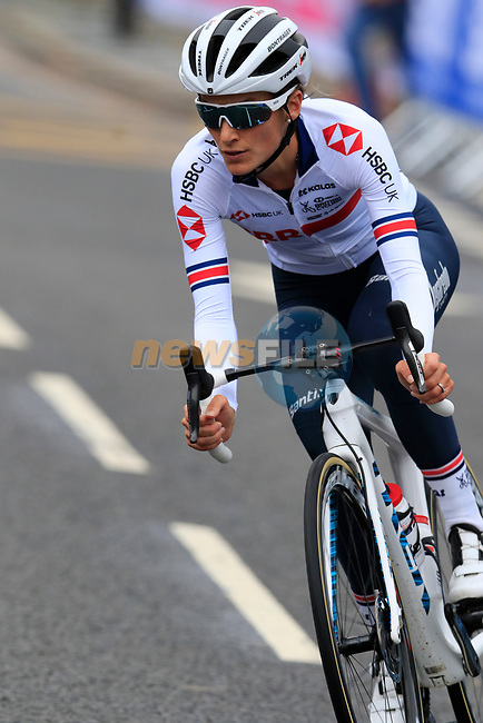 Elizabeth Deignan Team Great Britain takes advantage of free practice on the Harrogate Circuit before the Men Elite Individual Time Trial of the UCI World Championships 2019 running 54km from Northallerton to Harrogate, England. 25th September 2019.<br /> Picture: Eoin Clarke | Cyclefile<br /> <br /> All photos usage must carry mandatory copyright credit (© Cyclefile | Eoin Clarke)