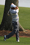 May 8,2011 - Glovers' second shot on fifteen heads to the green.  Lucas Glover wins the tournament in sudden death over Jonathan Byrd at Quail Hollow Country Club,Charlotte,NC.