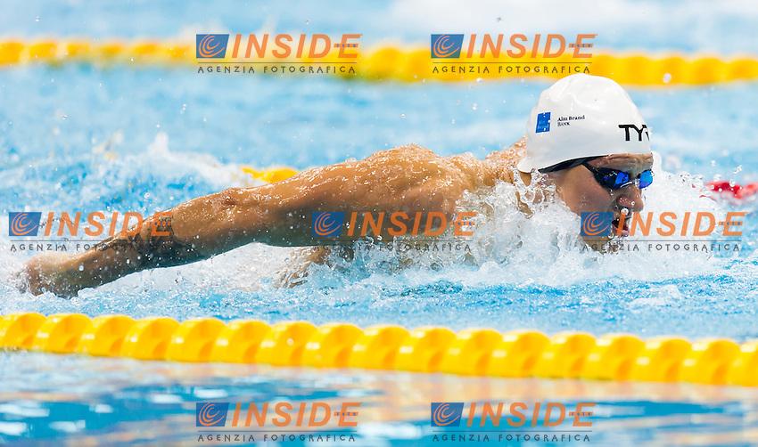 BROMER Viktor B. DEN<br /> London, Queen Elizabeth II Olympic Park Pool <br /> LEN 2016 European Aquatics Elite Championships <br /> Swimming<br /> Men's 200m butterfly final  <br /> Day 10 18-05-2016<br /> Photo Giorgio Perottino/Deepbluemedia/Insidefoto