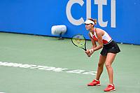 Washington, DC - August 3, 2019: Anna Kalinskaya (RUS) awaits the serve of Jessica Pegula (USA) during the Citi Open WTA Singles Semi Finals at Rock Creek Tennis Center, in Washington D.C. (Photo by Philip Peters/Media Images International)