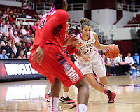 STANFORD, CA - February 16, 2014: Stanford Cardinal's Erica Payne during Stanford's 74-48 victory over Arizona at Maples Pavilion.