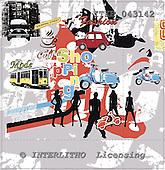 Isabella, MODERN, paintings,+people, cars, motobikes++++,ITKE043142,#n# moderno, arte, illustrations, pinturas napkins ,everyday