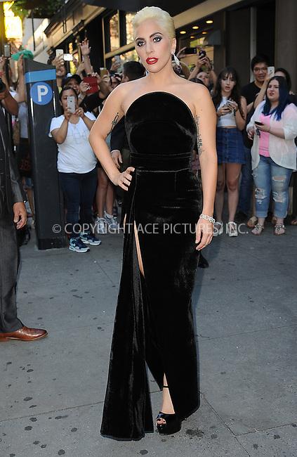 www.acepixs.com<br /> August 3, 2016 New York City<br /> <br /> Lady Gaga was seen leaving a recording studio in the West Village on August 3, 2016 in New York City.<br /> <br /> Credit: Kristin Callahan/ACE<br /> <br /> <br /> Tel: (646) 769 0430<br /> e-mail: info@acepixs.com