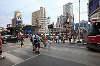 Toronto (ON) CANADA - July 2012 - Dundas square beside  EATON CENTRE