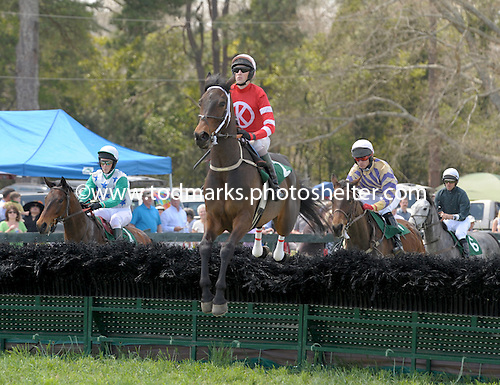 Fleeting Thunder wins GH Bostwick hurdle at Ford Conger Field, Aiken, S.C., 3/210/2010 for owner Debra E. Kachel, trainer Ricky Hendriks, and jockey Paddy Young.