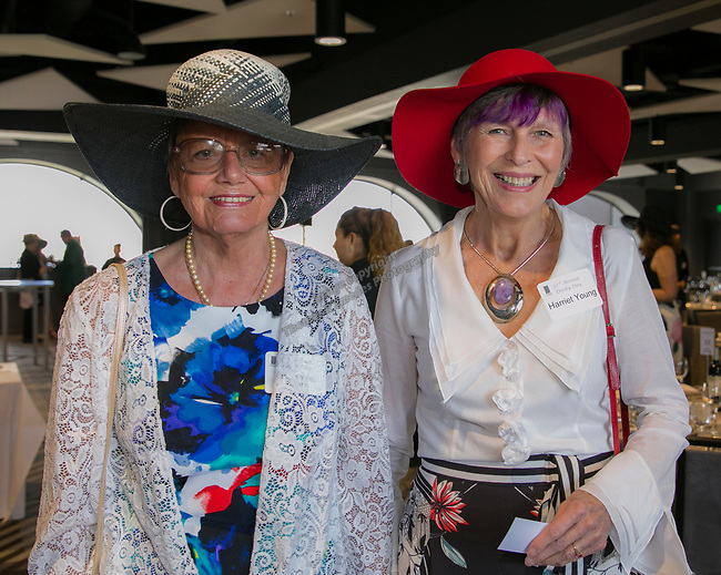 Heidiemarie Rochlin and Harriet Young during the Derby Day fundraiser for the Reno Chamber Orchestra at the Renaissance Reno on Saturday, May 4, 2019.