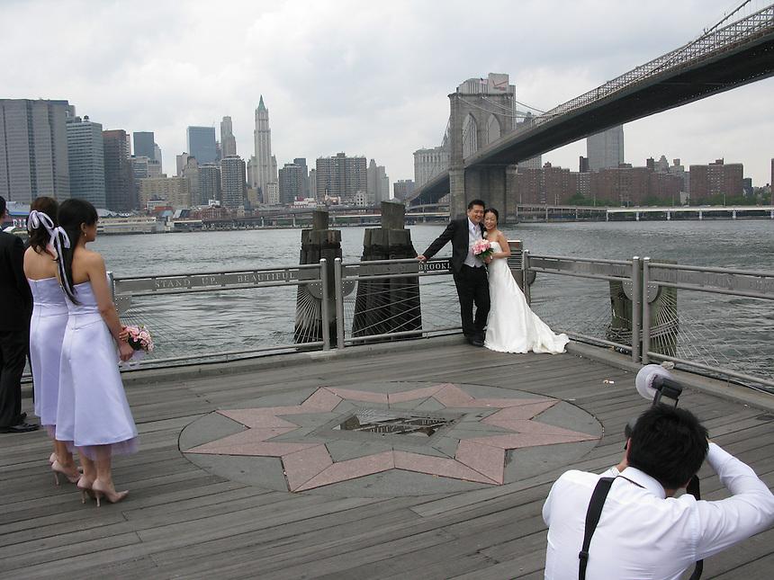 Wedding under the Brooklyn Bridge, 5/31/08.