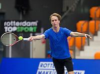Rotterdam,Netherlands, December 15, 2015,  Topsport Centrum, Lotto NK Tennis, Stefan de Jong (NED)<br /> Photo: Tennisimages/Henk Koster