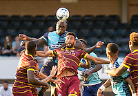 Adebayo Akinfenwa of Wycombe Wanderers during the Pre-Season Friendly match between Wycombe Wanderers and Queens Park Rangers at Adams Park, High Wycombe, England on the 22nd July 2016. Photo by Liam McAvoy / PRiME Media Images.