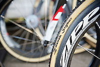 Personalised Dugast tubes for Zdenek Stybar (CZE)<br /> <br /> 2014 UCI cyclo-cross World Championships, Elite Men