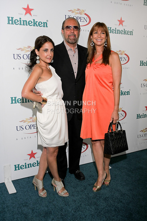 Guest, Bobby Zarin, and Jill Zarin arrive at the US Open Player Party at The Empire Hotel, August 27, 2010.