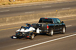 Nissan pickup truck towing pwc.