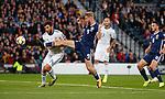 06.09.2019 Scotland v Russia, European Championship 2020 qualifying round, Hampden Park:<br /> Oli McBurnie tries a shot