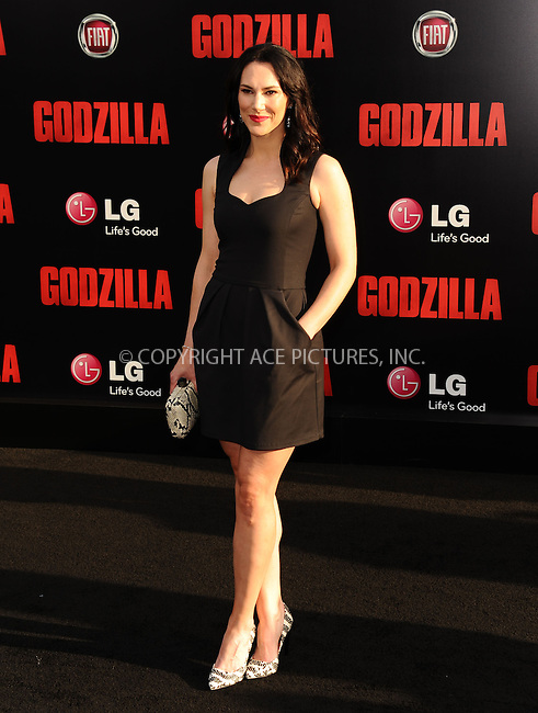ACEPIXS.COM<br /> <br /> May 8 2014, LA<br /> <br /> Kyra Zagorsky arriving at the Los Angeles premiere of 'Godzilla' at Dolby Theatre on May 8, 2014 in Hollywood, California. <br /> <br /> By Line: Peter West/ACE Pictures<br /> <br /> ACE Pictures, Inc.<br /> www.acepixs.com<br /> Email: info@acepixs.com<br /> Tel: 646 769 0430