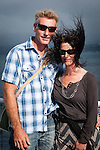 Wellington, NEW ZEALAND - January 17: A Couple enjoy their trip on the Interislander Kaitaki traveling to Picton January 17, 2015 in Wellington, New Zealand.  REAL PEOPLE.  (Photo by Elias Rodriguez/ real-people.co.nz)