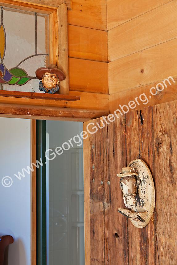 Old ranch door detail