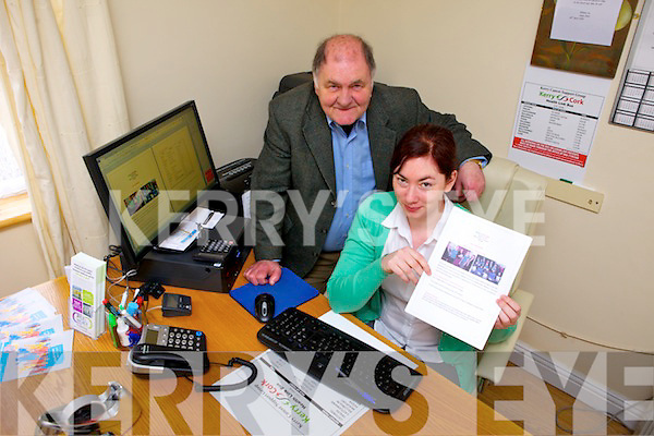 Kerry Cancer Support Group have plans for a new newsletter for the service. Pictured were: Sean Prendergast (Manager KCSG) and Trish Kelly.