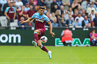 Aaron Cresswell of West Ham United during the Premier League match between West Ham United and Manchester City at the London Stadium, London, England on 10 August 2019. Photo by David Horn.