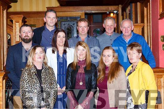 AbbeyDourney'/Kilflynn representatives at the Kerry Community games awards in the River Island Hotel on Friday night front row l-r: Breda Shanahan, Mary peevers, Sharon and Mary Fealy. Back row: John Hannon, Seamus and Nora Falvey, Mervin Peevers, Gerard O'Connell and James Fealy
