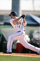 February 20, 2009:  Outfielder Ryan LaMarre (4) of the University of Michigan during the Big East-Big Ten Challenge at Jack Russell Stadium in Clearwater, FL.  Photo by:  Mike Janes/Four Seam Images