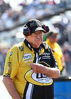 Feb 26, 2017; Chandler, AZ, USA; NHRA funny car team owner Jim Dunn during the Arizona Nationals at Wild Horse Pass Motorsports Park. Mandatory Credit: Mark J. Rebilas-USA TODAY Sports