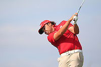 Joshua Davies (WAL) during the Home Internationals day 2 foursomes matches supported by Fairstone Financial Management Ltd. at Royal Portrush Golf Club, Portrush, Co.Antrim, Ireland.  13/08/2015.<br /> Picture: Golffile   Fran Caffrey<br /> <br /> <br /> All photo usage must carry mandatory copyright credit (© Golffile   Fran Caffrey)