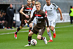 16.03.2019, BWT-Stadion am Hardtwald, Sandhausen, GER, 2. FBL, SV Sandhausen vs FC St. Pauli, <br /> <br /> DFL REGULATIONS PROHIBIT ANY USE OF PHOTOGRAPHS AS IMAGE SEQUENCES AND/OR QUASI-VIDEO.<br /> <br /> im Bild: Mats M&ouml;ller / Moeller Daehli (FC St. Pauli #14)<br /> <br /> Foto &copy; nordphoto / Fabisch