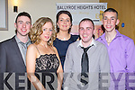 TOTE: Enjoying the 1st Tralee Greyhound Stadium Supporters Club social in Ballyroe Heights Hotel, Tralee on Saturday night. L-r: John Murphy, Noelle O'Sullivan,Geraldine Cotter, Philip Lynch and Ciara?n Murphy................... . ............................... ..........