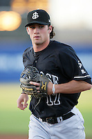 Charlie Culberson of the San Jose Giants during game against the High Desert Mavericks at Mavericks Stadium in Adelanto,California on June 16, 2010. Photo by Larry Goren/Four Seam Images