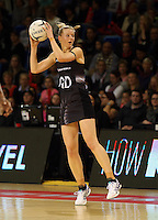 16.07.2015 Silver Ferns Katrina Grant in action during the Silver Fern v Fiji netball test match played at Te Rauparaha Arena in Porirua. Mandatory Photo Credit ©Michael Bradley.