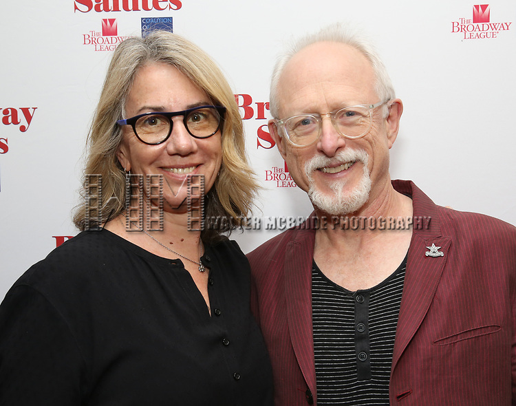 Laura Penn and Robert Schenkkan attends Broadway Salutes 10 Years - 2009-2018 at Sardi's on November 13, 2018 in New York City.