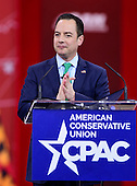 Reince Priebus, Chairman, Republican National Committee, speaks at the Conservative Political Action Conference (CPAC) at the Gaylord National at National Harbor, Maryland on Friday, February 27, 2015.<br /> Credit: Ron Sachs / CNP