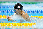 Reona Aoki (JPN), <br /> AUGUST 19, 2018 - Swimming : <br /> Women's 100m Breaststroke Final <br /> at Gelora Bung Karno Aquatic Center <br /> during the 2018 Jakarta Palembang Asian Games <br /> in Jakarta, Indonesia. <br /> (Photo by Naoki Nishimura/AFLO SPORT)