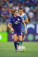 Orlando, FL - Saturday July 16, 2016: Maddy Evans, Sofia Huerta during a regular season National Women's Soccer League (NWSL) match between the Orlando Pride and the Chicago Red Stars at Camping World Stadium.