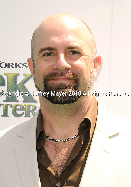 "UNIVERSAL CITY, CA. - May 16: Conrad Vernon arrives at the ""Shrek Forever After"" Los Angeles Premiere at Gibson Amphitheatre on May 16, 2010 in Universal City, California."