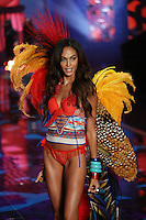 Joan Smalls on the runway at the Victoria's Secret Fashion Show 2014 London held at Earl's Court, London. 02/12/2014 Picture by: James Smith / Featureflash