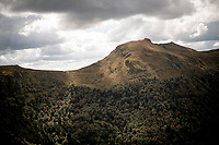 spectacular views up the Puy Mary (uphill finish)<br /> <br /> Stage 13 from Châtel-Guyon to Pas de Peyrol (Le Puy Mary) (192km)<br /> <br /> 107th Tour de France 2020 (2.UWT)<br /> (the 'postponed edition' held in september)<br /> <br /> ©kramon