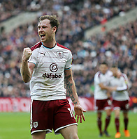Burnley's Ashley Barnes celebrates scoring his side's first goal <br /> <br /> Photographer Rob Newell/CameraSport<br /> <br /> The Premier League - West Ham United v Burnley - Saturday 10th March 2018 - London Stadium - London<br /> <br /> World Copyright v&Ccedil;&not;&copy; 2018 CameraSport. All rights reserved. 43 Linden Ave. Countesthorpe. Leicester. England. LE8 5PG - Tel: +44 (0) 116 277 4147 - admin@camerasport.com - www.camerasport.com