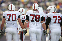 11 November 2006: Jeff Edwards, Jon Cochran and Mikal Brewer during Stanford's 20-3 win over the Washington Huskies in Seattle, WA.