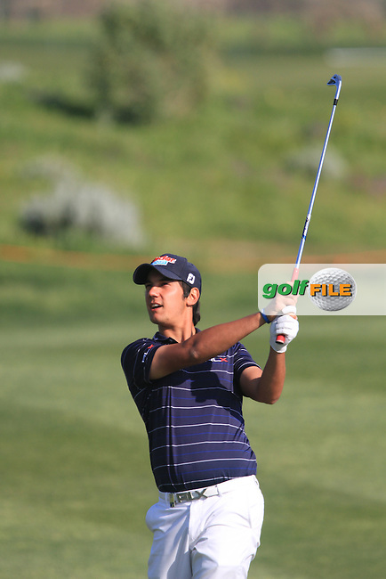 Matteo Manassero (ITA) on the 17th on Day 2 of the 2012 Sicilian Open at Verdura Golf and Spa Resort, Sicily, Italy....(Photo Jenny Matthews/www.golffile.ie)
